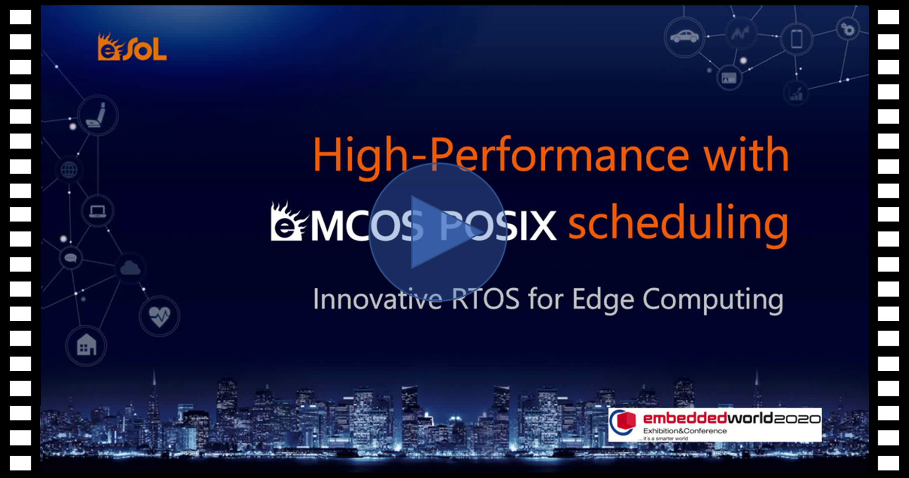 eMCOS multi-kernel architecture shows 30 times faster performance than Linux.